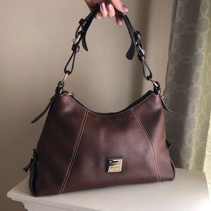 Dooney & Bourke Brown Leather Hobo Bag